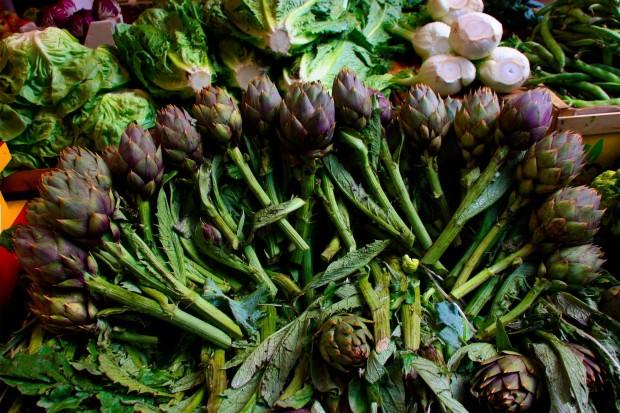 Alcachofas del mercado de Ballaró en Palermo