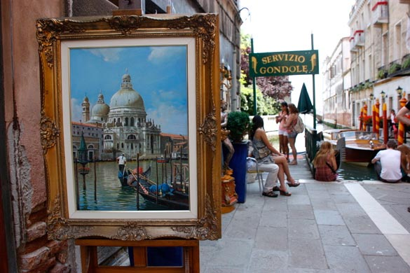 Venecia-parada-gondolas