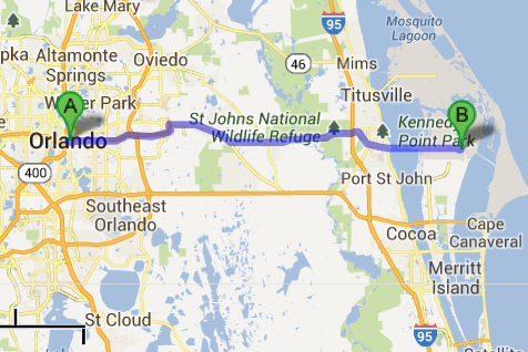 Excursión Desde Orlando La NASA En El Kennedy Space Center - Mapa de la florida usa