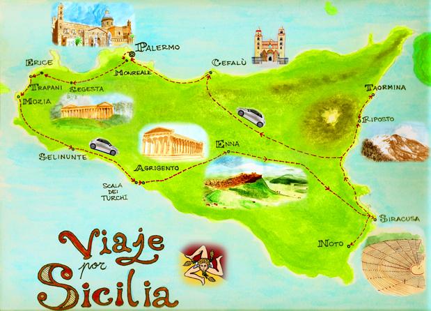 Guia De Nuestra Ruta En Coche Por Sicilia